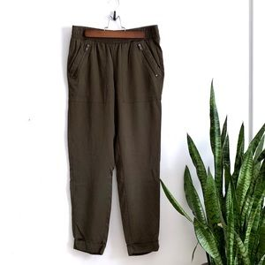 Juicy Couture Elastic Joggers Army Green Pants